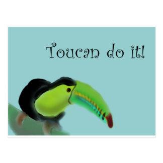 Toucan do it postcard