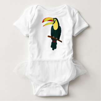 Toucan Drawing Baby Bodysuit