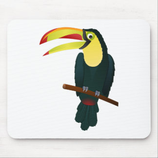 Toucan Drawing Mouse Pad