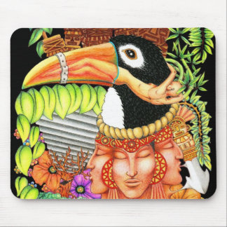 Toucan Fantasy Art Design Mouse Pad
