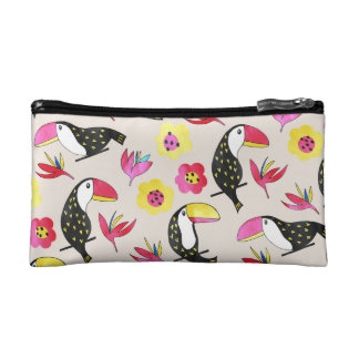 Toucan floral Cosmetic Bag