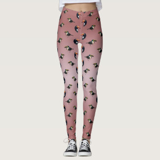 Toucan Frenzy Leggings (Dusty Pink Mix)