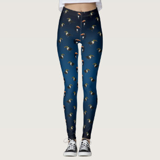 Toucan Frenzy Leggings (Navy Blue Mix)