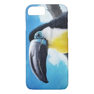 Toucan in Misty Air tropical bird painting iPhone 7 Case