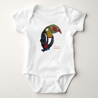 Toucan Mosaic Customizable Baby Bodysuit