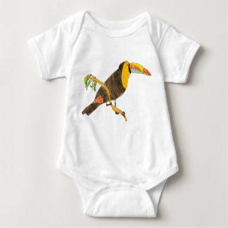 Toucan on a Branch Baby Outfit. Baby Bodysuit