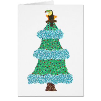 Toucan on a Christmas Tree Greeting Cards