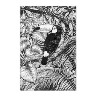 Toucan tropical garden acrylic print