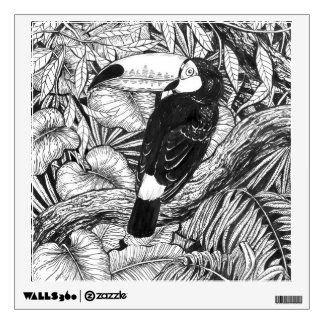 Toucan tropical garden wall decal