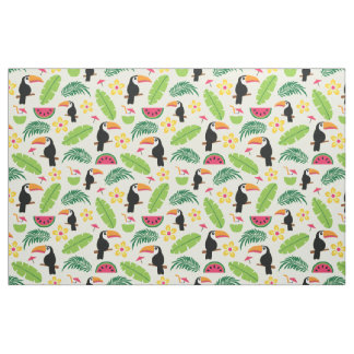 Toucan Tropical Summer Pattern Fabric