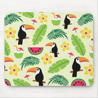 Toucan Tropical Summer Pattern Mouse Pad