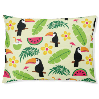 Toucan Tropical Summer Pattern Pet Bed