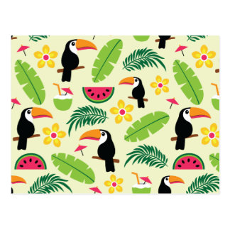 Toucan Tropical Summer Pattern Postcard