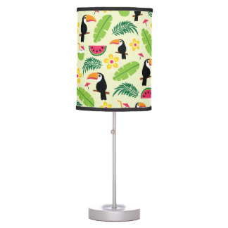 Toucan Tropical Summer Pattern Table Lamp