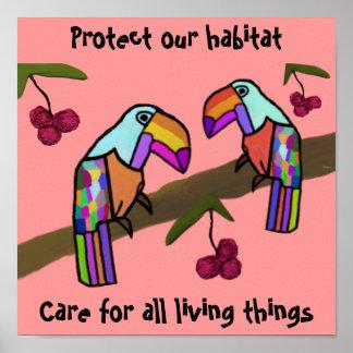 Toucans Habitat Poster