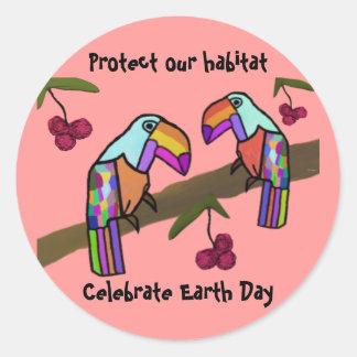 Toucans Habitat Stickers