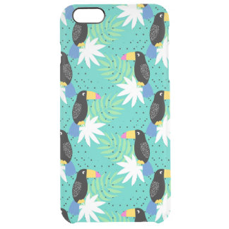 Toucans On Teal Clear iPhone 6 Plus Case