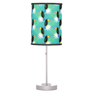 Toucans On Teal Desk Lamp