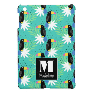 Toucans On Teal | Monogram Case For The iPad Mini