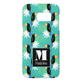 Toucans On Teal | Monogram Samsung Galaxy S7 Case