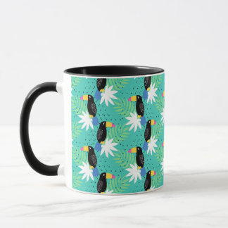 Toucans On Teal Mug