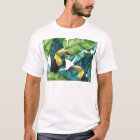 Toucans Tropical Banana Leaves Pattern T-Shirt