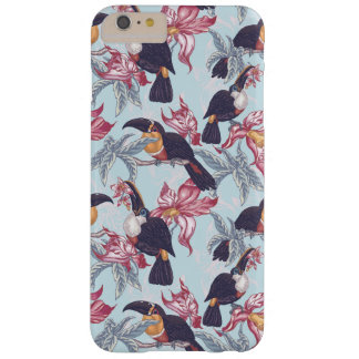 Toucans With Exotic Flowers Barely There iPhone 6 Plus Case