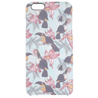 Toucans With Exotic Flowers Clear iPhone 6 Plus Case