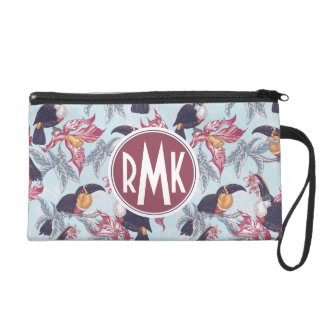 Toucans With Exotic Flowers | Monogram Wristlets