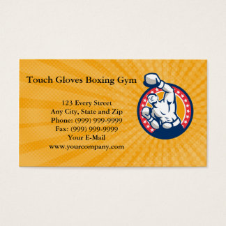 Touch Gloves Boxing Gym Business card