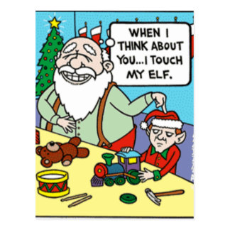 Touch My Elf Postcard