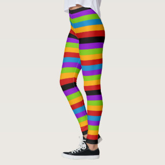 Touch of Black Rainbow Stripe Leggings