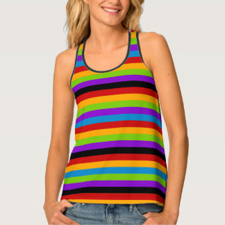 Touch of Black Rainbow Stripe Tank Top