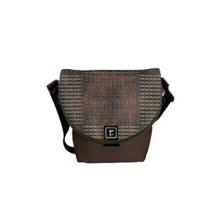 Touch of Brown Rickshaw Messenger Bag
