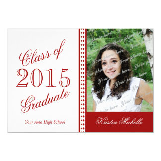 Touch of Class 2015 Grad Photo Red Card