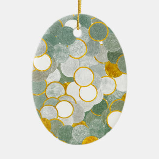 Touch of gold ceramic ornament