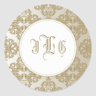 Touch of Gold Classic Round Sticker