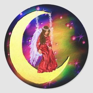 Touch of Heaven Classic Round Sticker