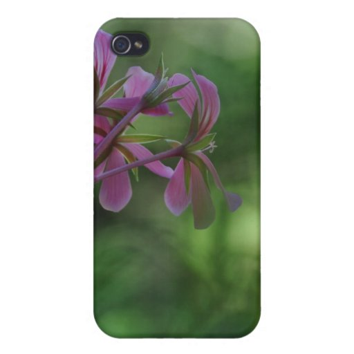 Touch of Pink Geranium Covers For iPhone 4