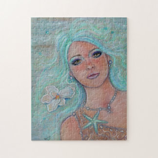 Touch of spring mermaid puzzle by Renee Lavoie