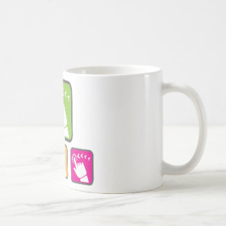 Touch Screen icon Classic White Coffee Mug