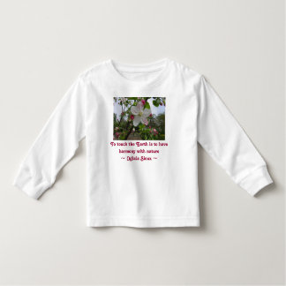 touch the Earth toddler shirt