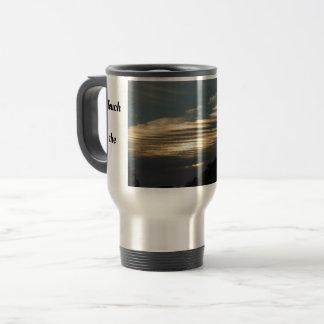 Touch the sky cloud image travel mug