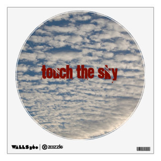 Touch the sky cloud pattern wall sticker