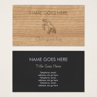 """""""Touch Wood"""" Chiropractor Business Cards"""