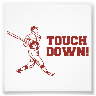 Touchdown Homerun Baseball Football Sports Photo Print