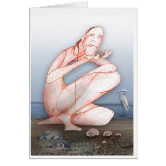 TouchDrawing on Maxwelton Beach, WA Card