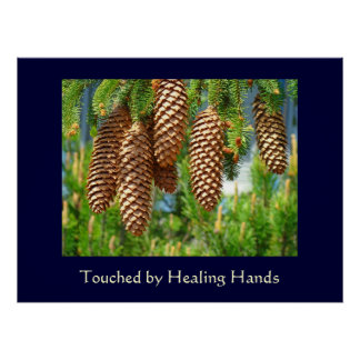 Touched by Healing Hands Fine Art Nurses Medical Poster