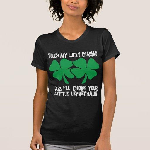 Touchez mes charmes chanceux - j'obstruerai le vot t-shirts