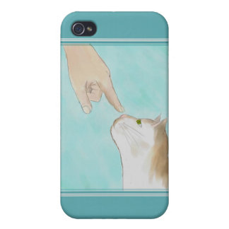 Touching Kitty's Nose iPhone 4 Case